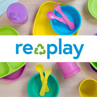 Replay Recycled eco-friendly kids mealtime products and utensils