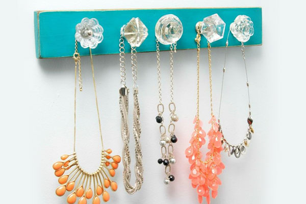 Easy DIY Decorative Necklace Holder - Mommy Scene