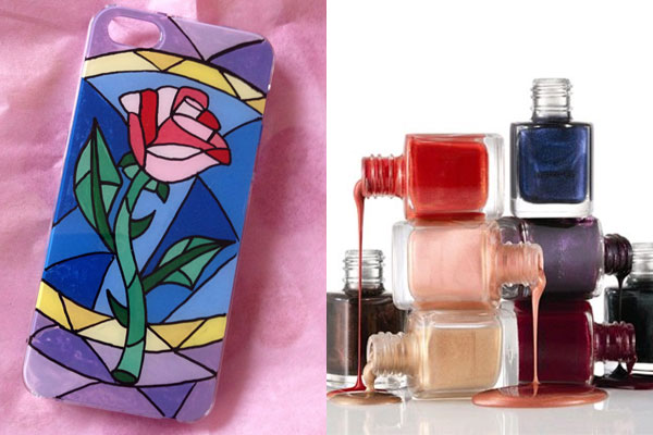 Creative Uses for Nail Polish - painted phone case