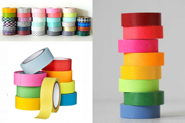 Design a rainbow tape table with washi tape - Mommy Scene
