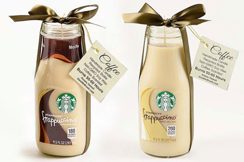 Frappuccino Bottle Candles DIY