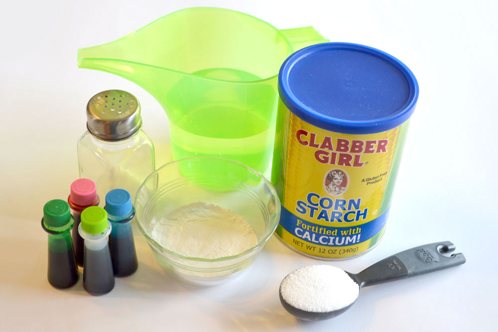 DIY homemade finger paint cornstarch recipe