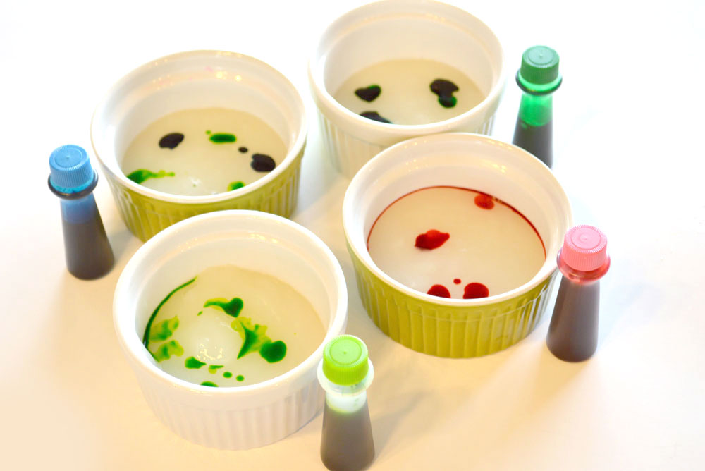 DIY homemade finger paint made with cornstarch