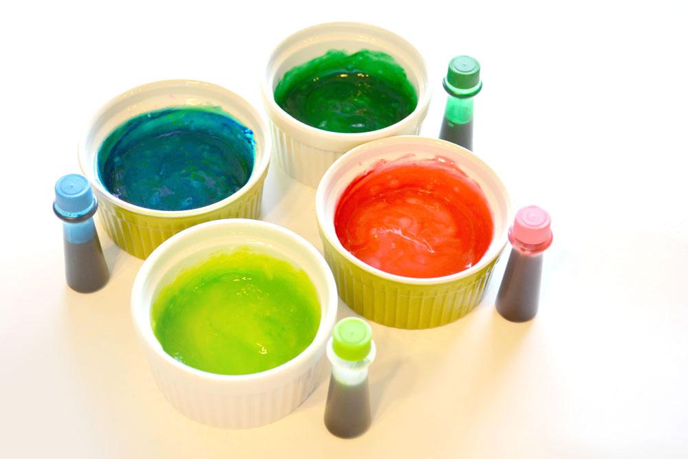 DIY flour or cornstarch finger paint