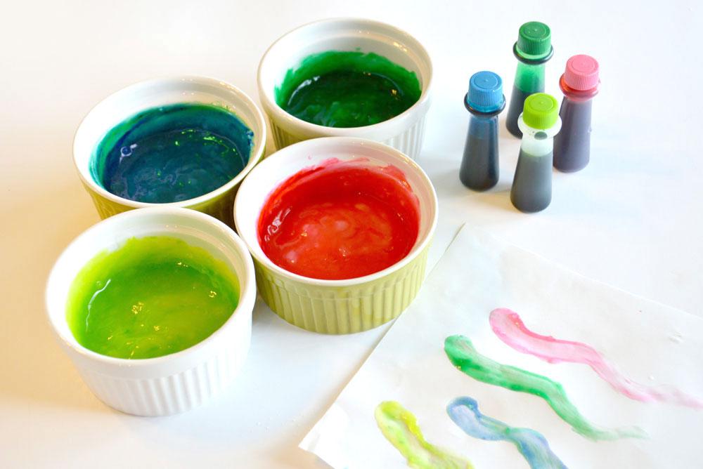 DIY homemade finger paint make any color!