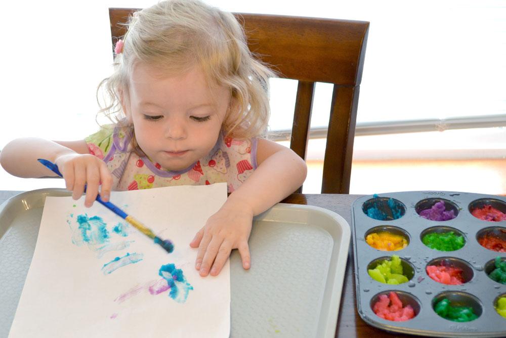 Easy DIY homemade finger paint kids activity