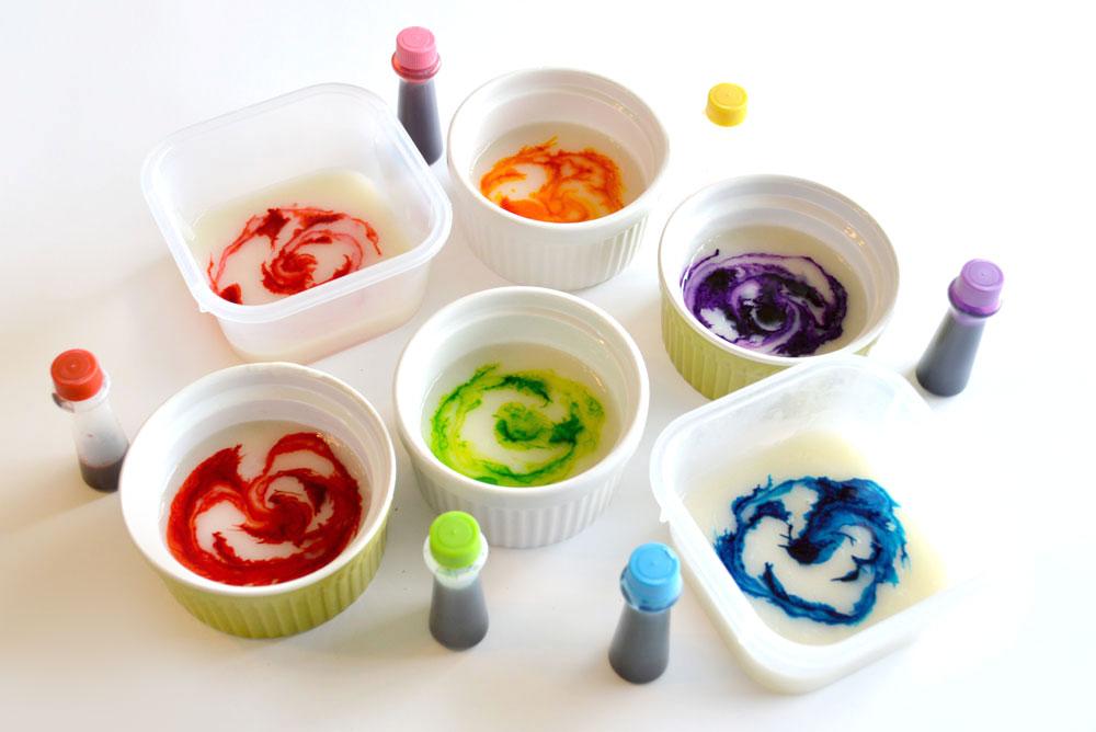 DIY homemade finger paint for kids