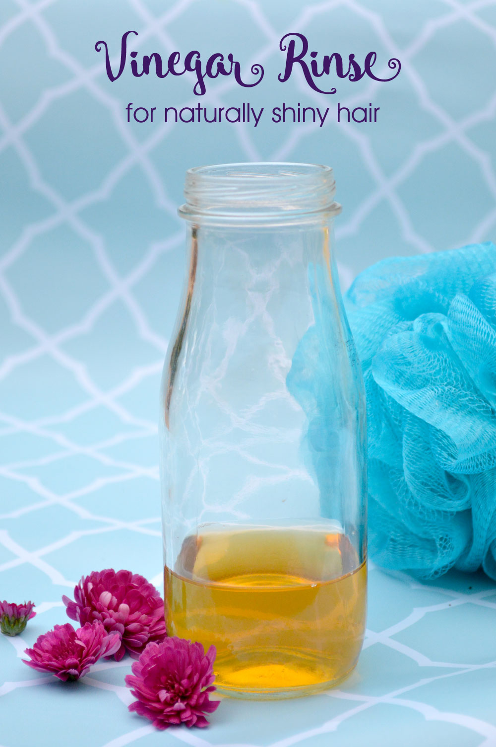 Vinegar Rinse for Shiny Hair - Mommy Scene Natural Hygiene Tips