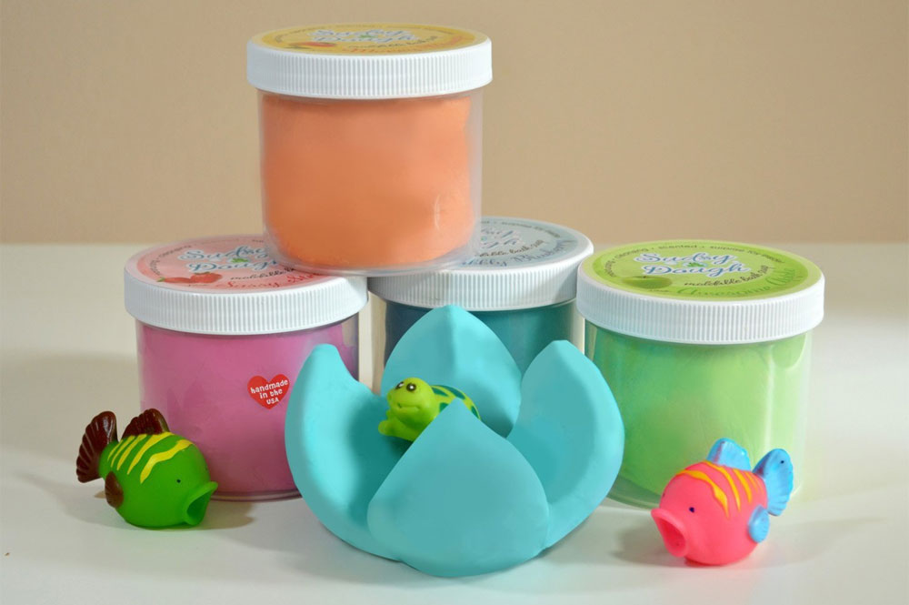Sudsy Dough moldable soap bath activity for kids - Mommy Scene