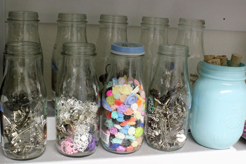 Frappuccino Bottles to store craft supplies - Mommy Scene