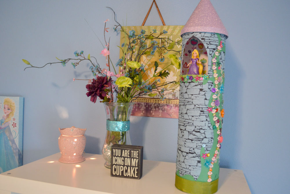 DIY Princess Rapunzel Tower craft - Mommy Scene