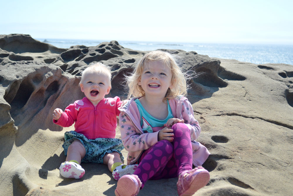 Oregon coast family vacation hike babies on the beach - Mommy Scene