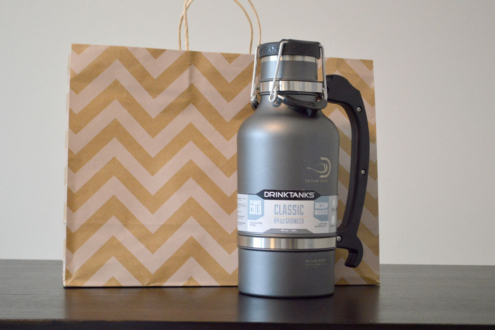 DrinkTanks stainless steel growler review - Mommy Scene