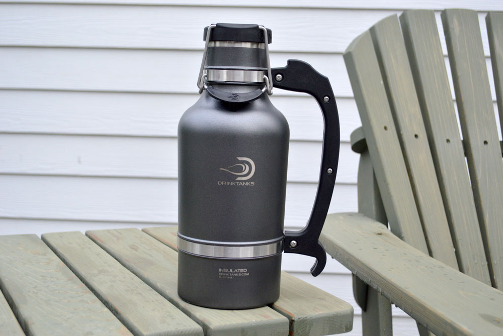 DrinkTanks stainless steel growler with double-wall vacuum insulation - Mommy Scene review