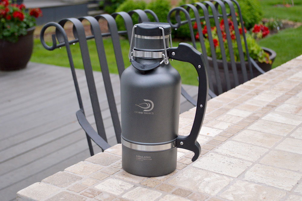 Keep beer fresh with DrinkTanks personal growler - Mommy Scene review