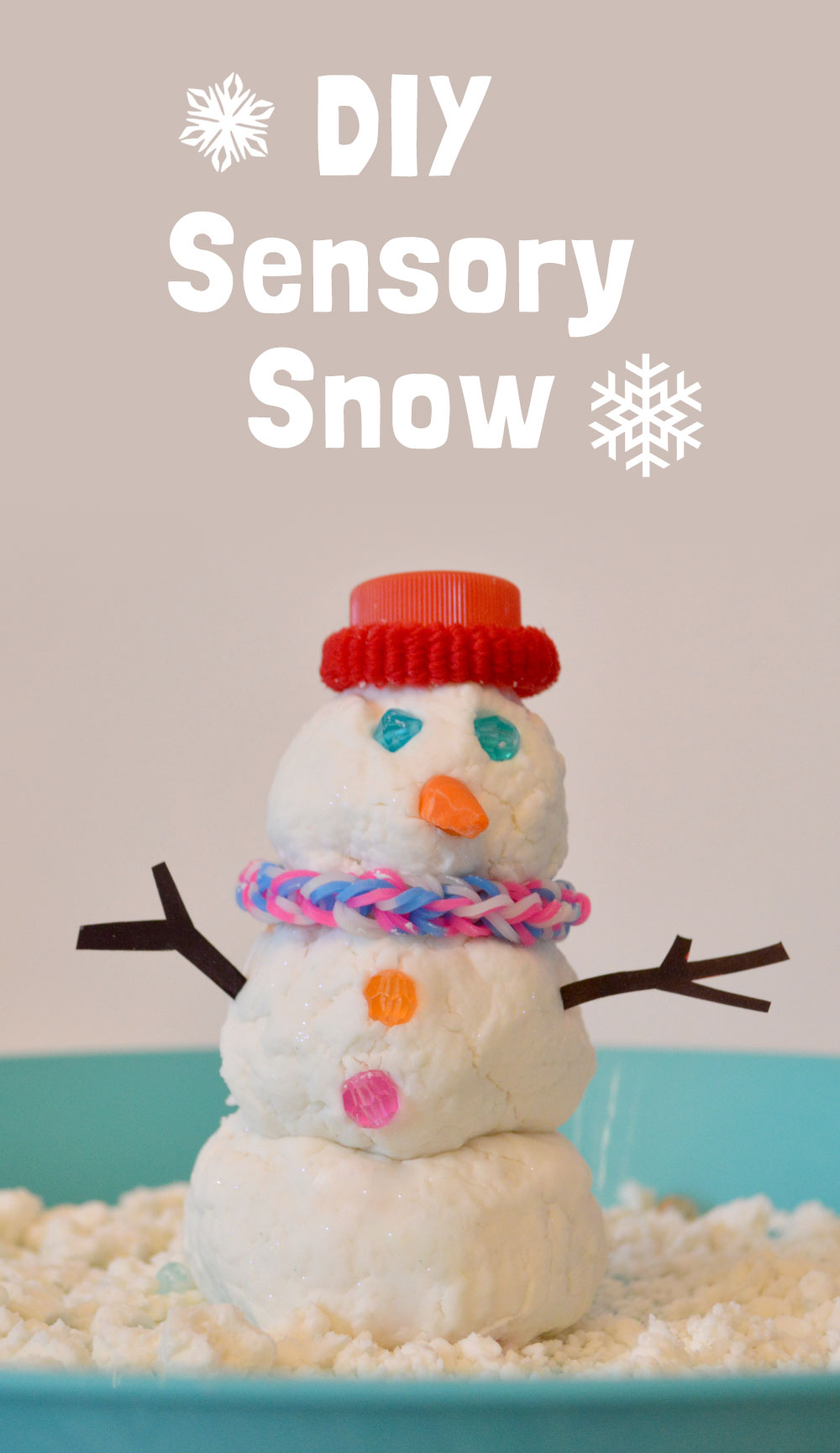 DIY Sensory Snow kids activity - Mommy Scene