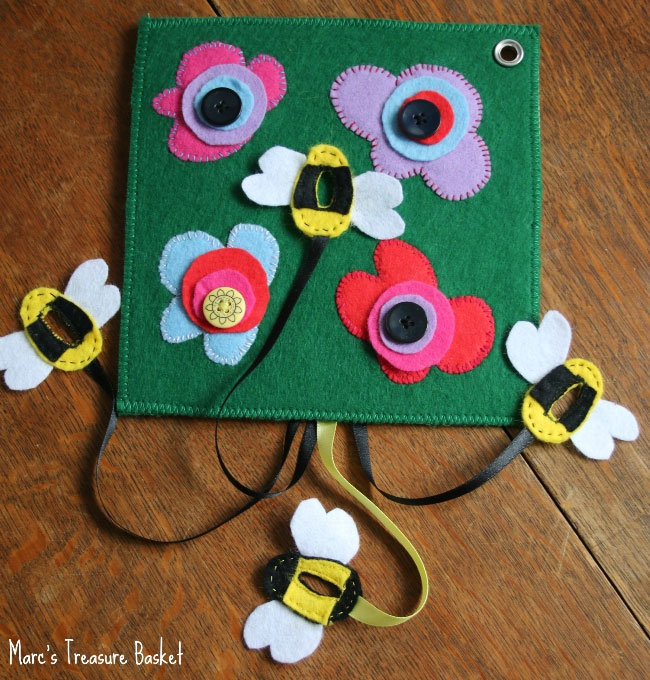 Sensory beehive felt book for toddlers - Mommy Scene