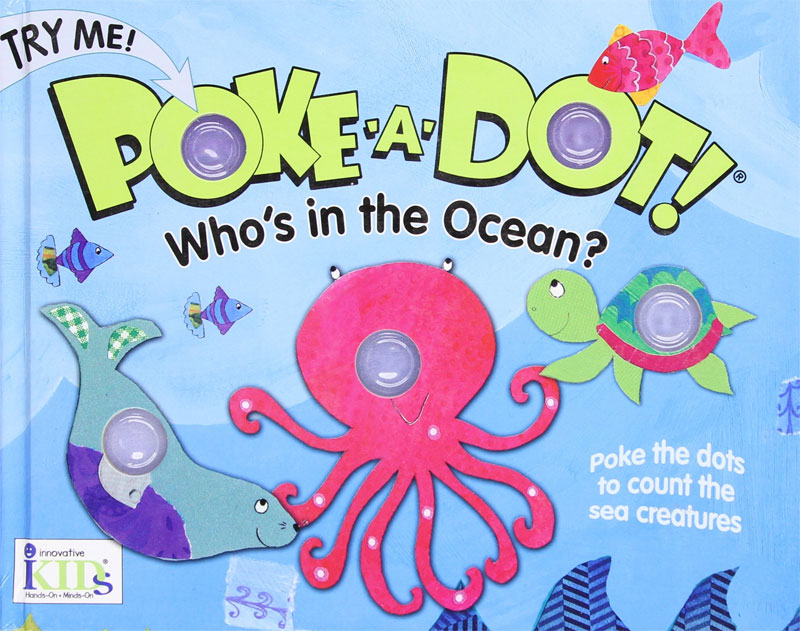 Sensory poke a dot ocean book for toddlers - Mommy Scene