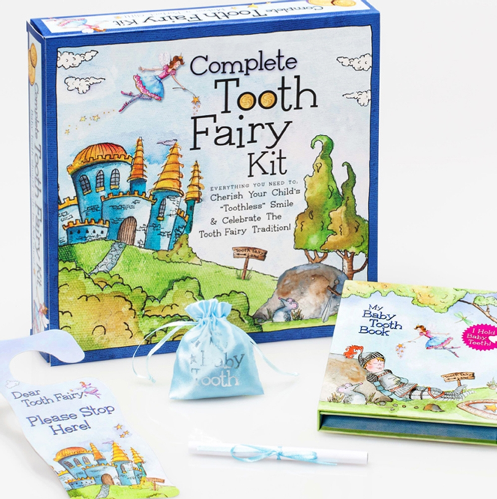 Boys knight-themed Complete Tooth Fairy Kit - Mommy Scene