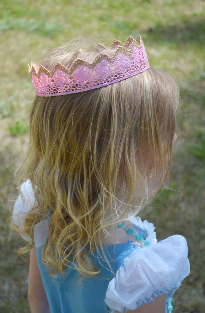 Homemade Mod Podge lace princess crowns