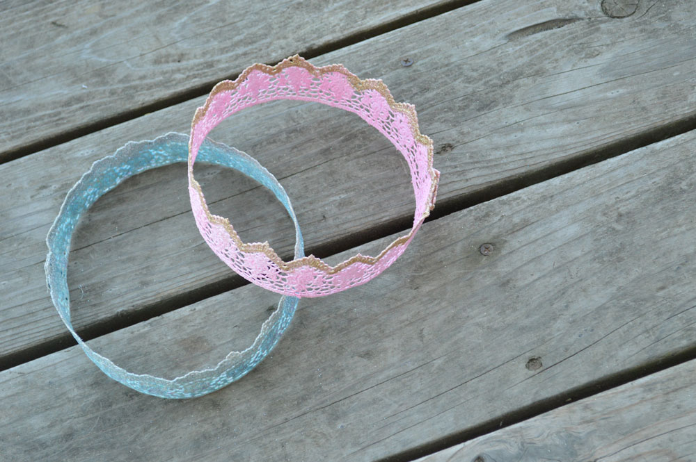 How to make lace princess crowns using Mod Podge
