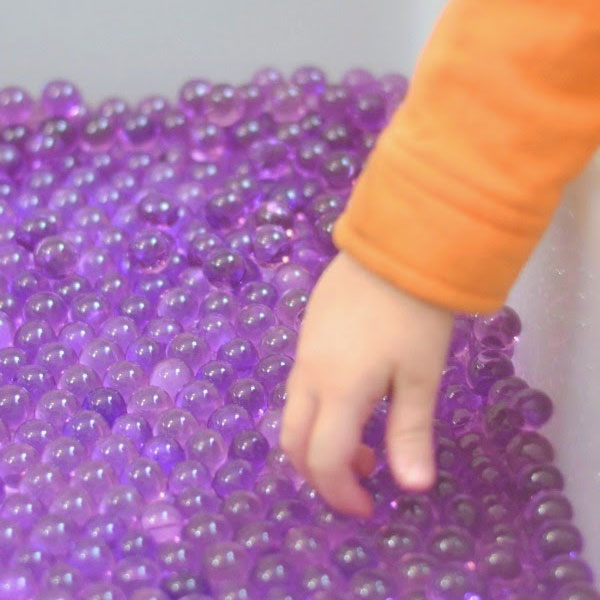 Calming Lavender Water Beads for Sensory Play - Mommy Scene