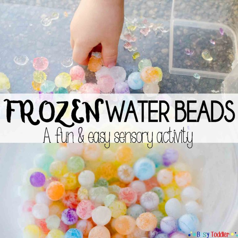 Frozen water Beads kids' activity - Mommy Scene