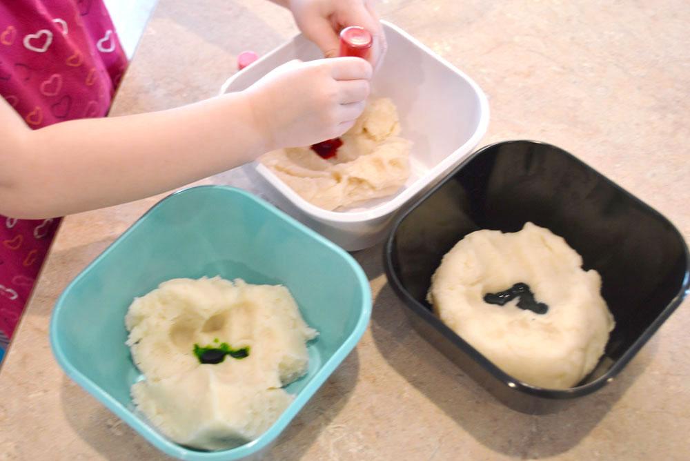 Homemade colored salt playdough for kids - Mommy Scene