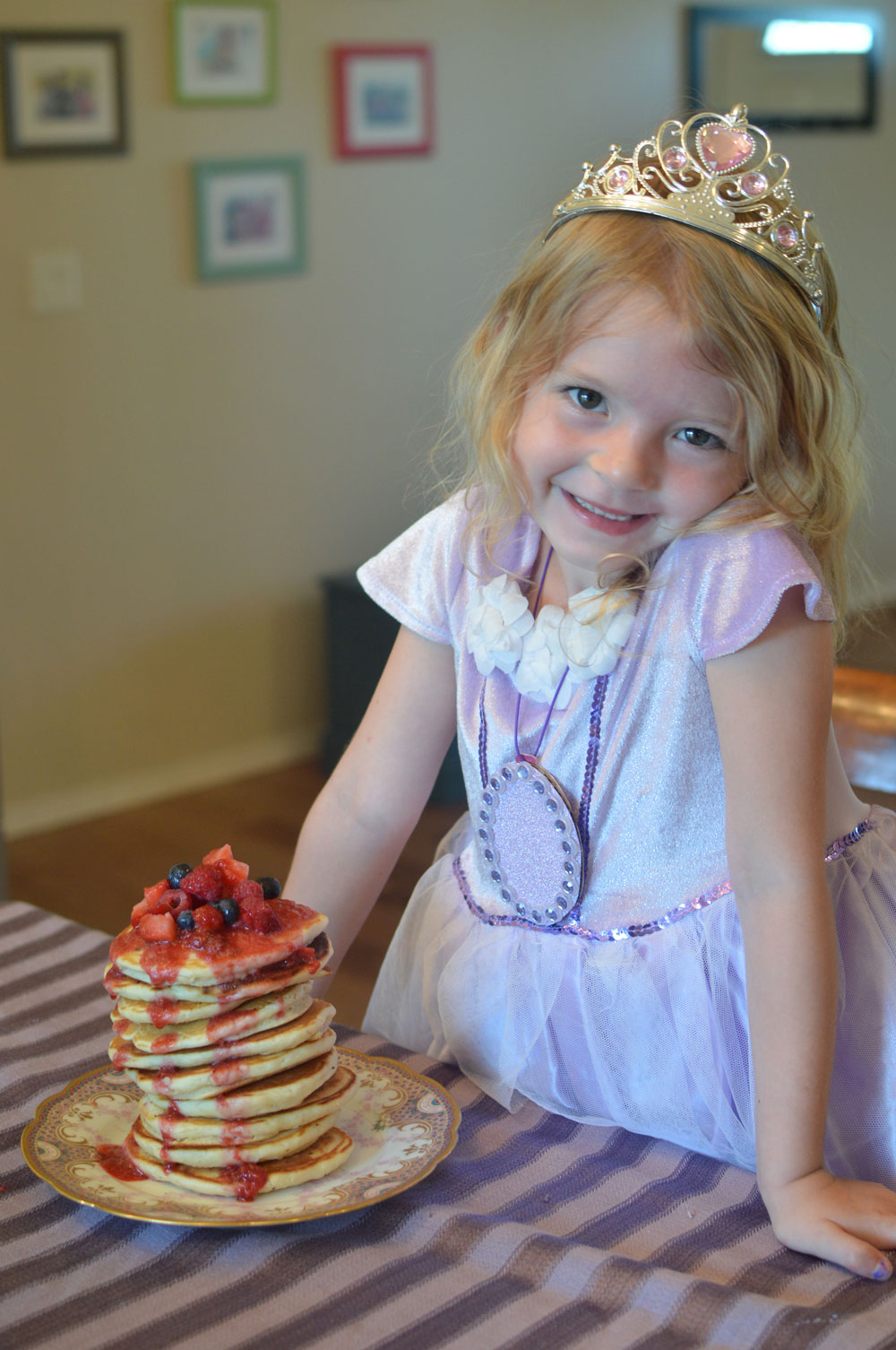 Delicious Sofia the First Goldenberry Pancakes - Mommy Scene