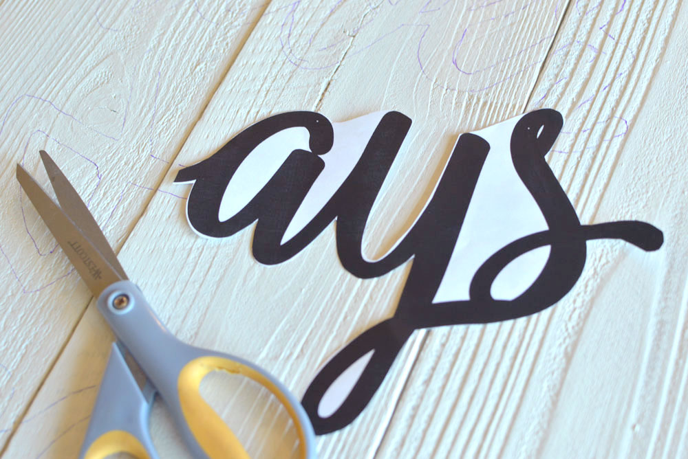 Forever and Always DIY Wood Wall Art sign - Mommy Scene