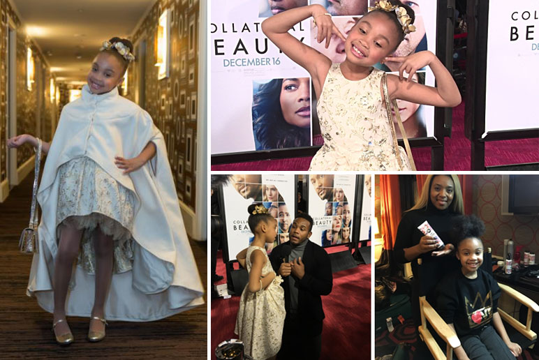 SoCozy hair products and Alyssa Cheatham Will Smith's Daughter at the Collateral Beauty Red Carpet premiere - Mommy Scene