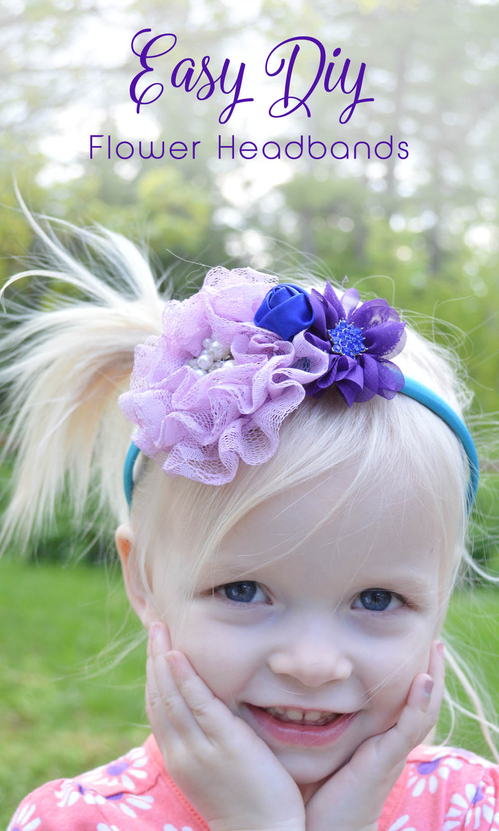 Cute DIY flower headbands - Mommy Scene