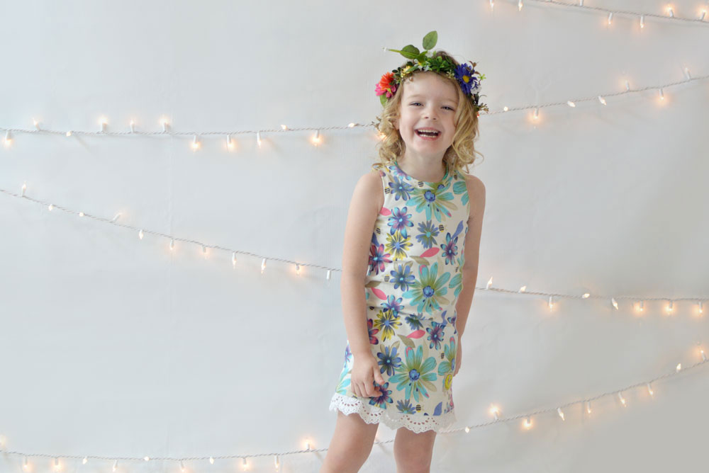 Cute flower L'enfant D'or little girl dress - Mommy Scene