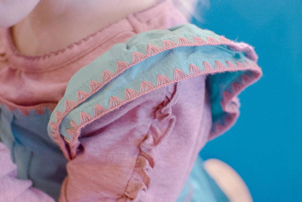 Matilda Jane dress with ruffle sleeves for little girls - Mommy Scene