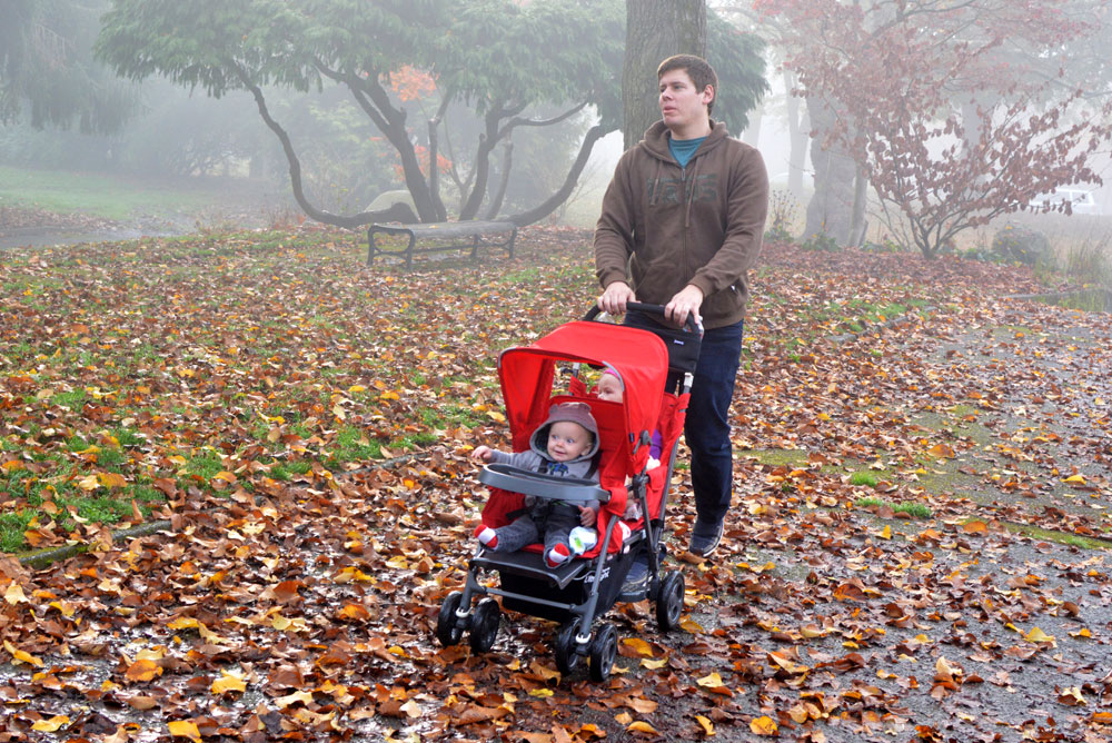 Walk through the mist and Joovy Caboose Ultralight Stroller - Mommy Scene