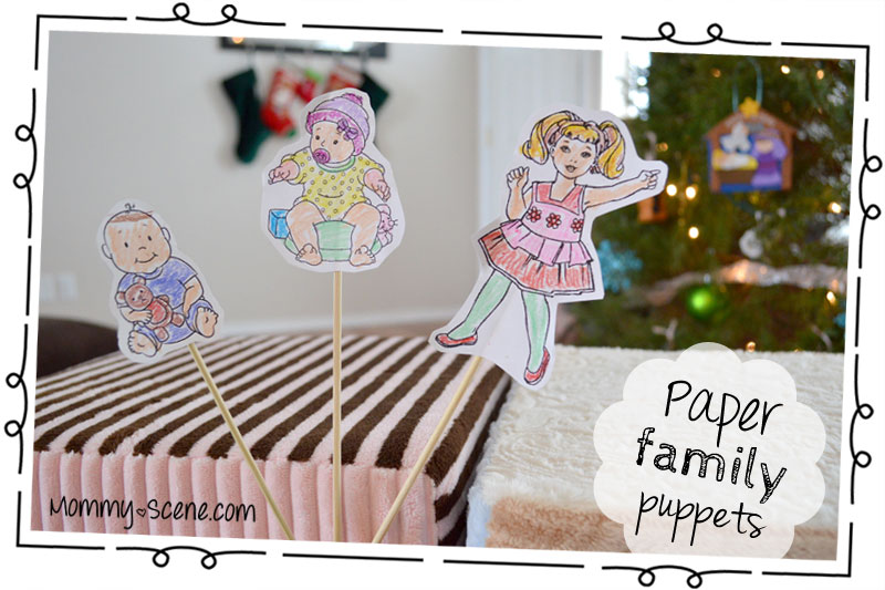 12 Days of Awaiting Baby DIY Paper Family Puppets - Mommy Scene
