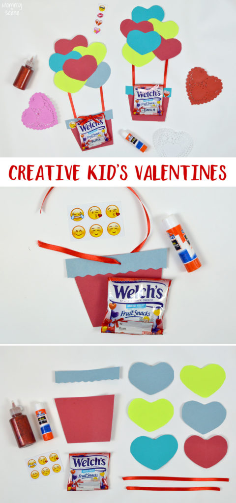 How to make a creative Kid's hot air balloon Valentine - Mommy Scene