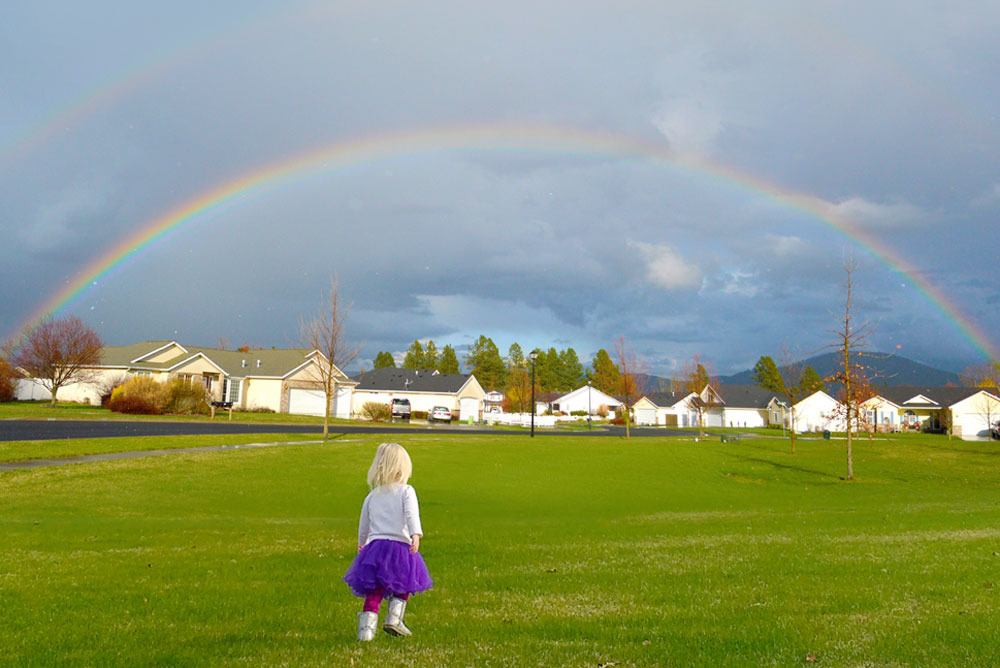 Coeur d'Alene parks for kids Broadmore rainbow