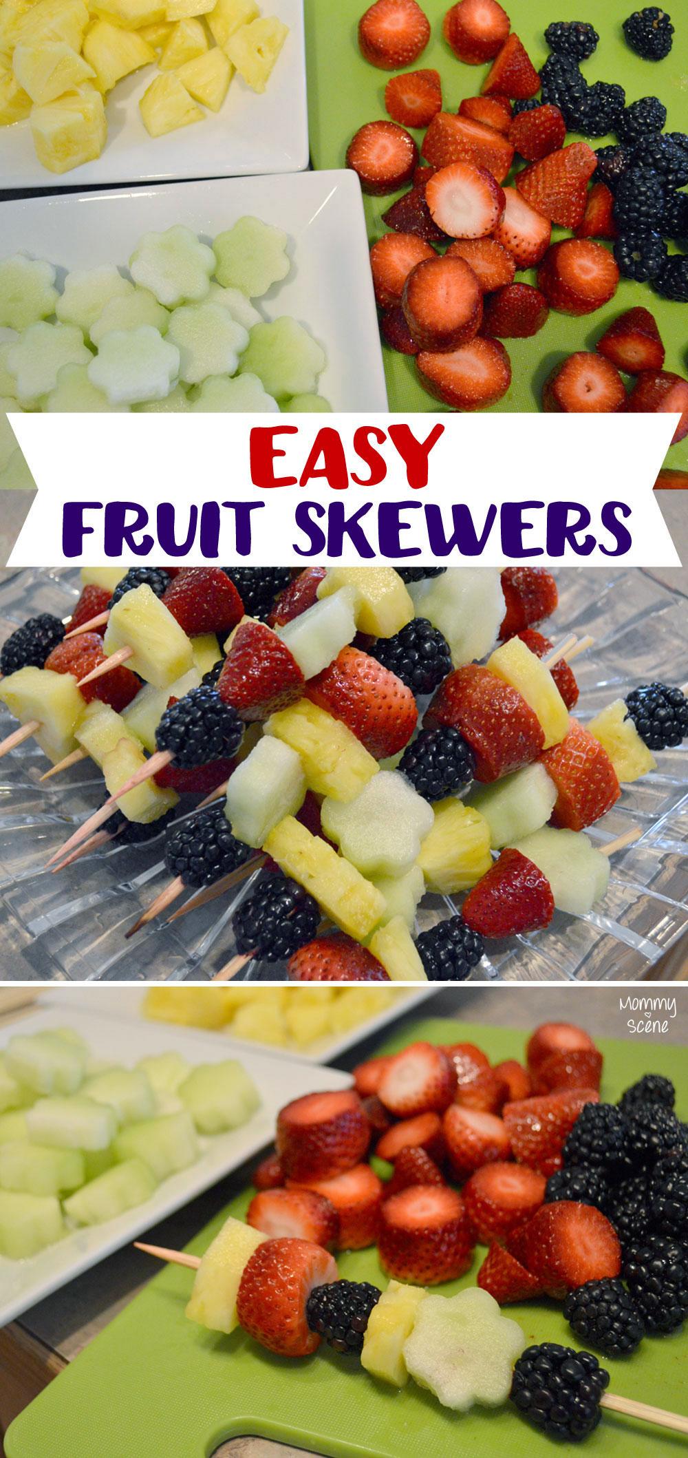 Easy Fruit Skewers for kids' parties - Mommy Scene
