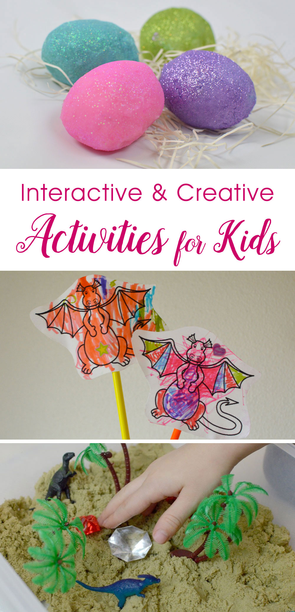 Sensory sparkle playdough, DIY character puppets, and discovery boxes - Mommy Scene