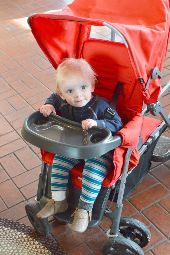 Joovy Caboose Ultralight Stroller easily holds two kids - Mommy Scene