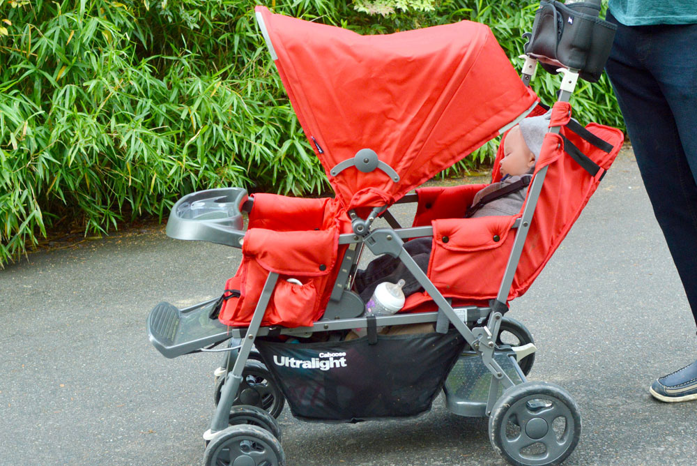 Joovy Caboose Ultralight Stroller easily fits in a car - Mommy Scene