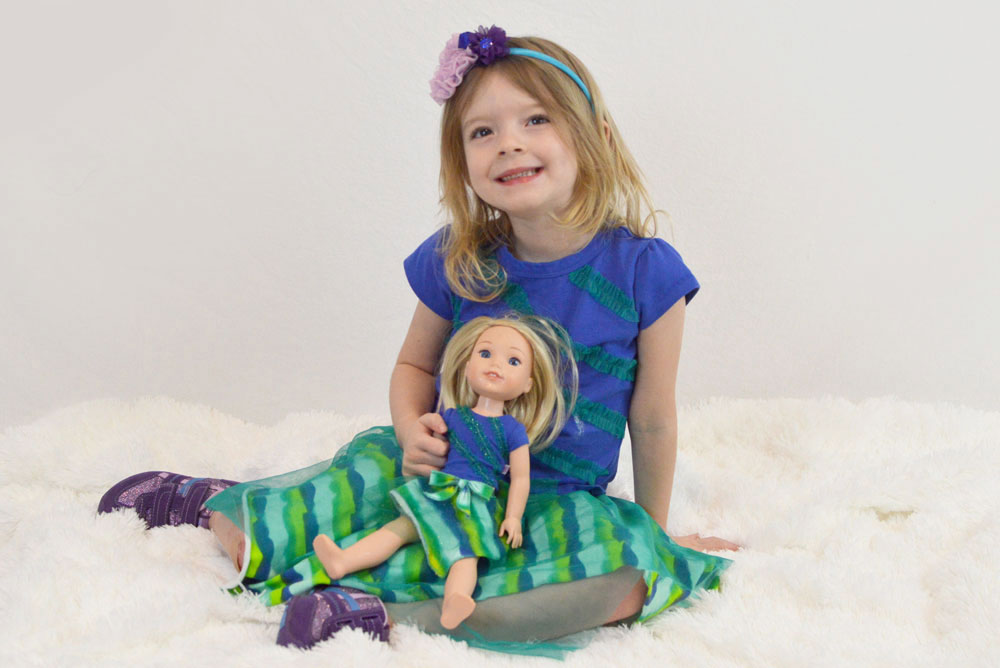 Wellie Wishers Camille matching outfits for girls and dolls - Mommy Scene
