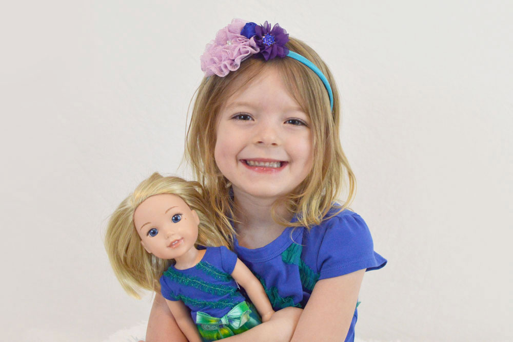 Wellie Wishers Camille matching doll and girl outfits - Mommy Scene