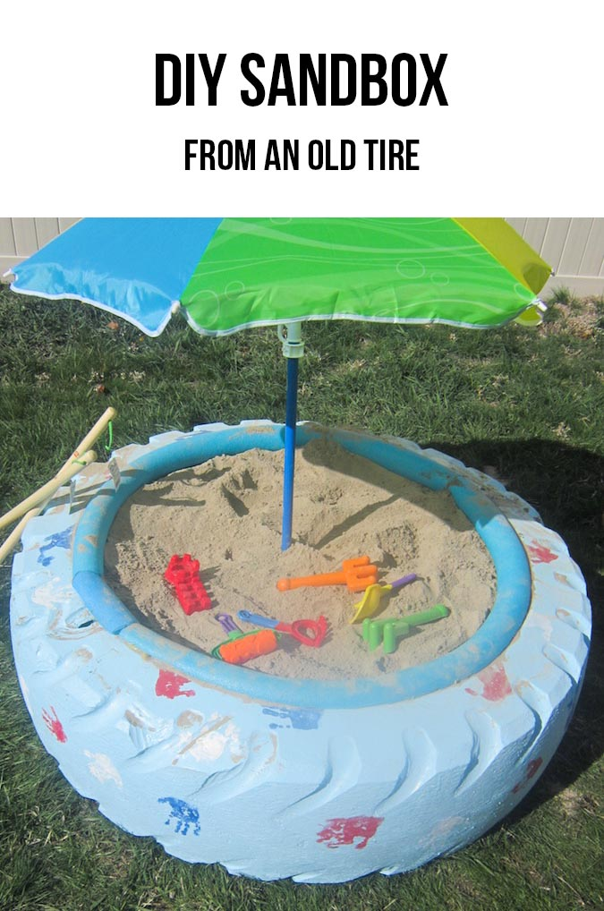 Tire Sandbox - Creative Uses for Old Tires