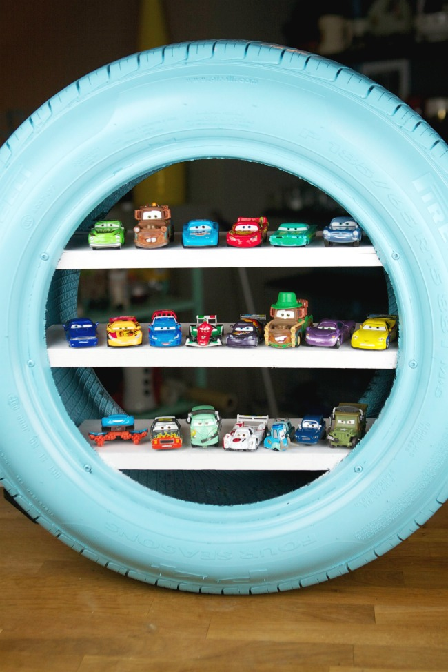Toy Car Storage Shelf - Mommy Scene