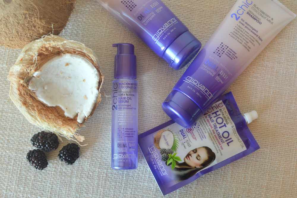 Easy hair care with Giovanni 2chic Ultra Repair Blackberry and Coconut Milk - Mommy Scene