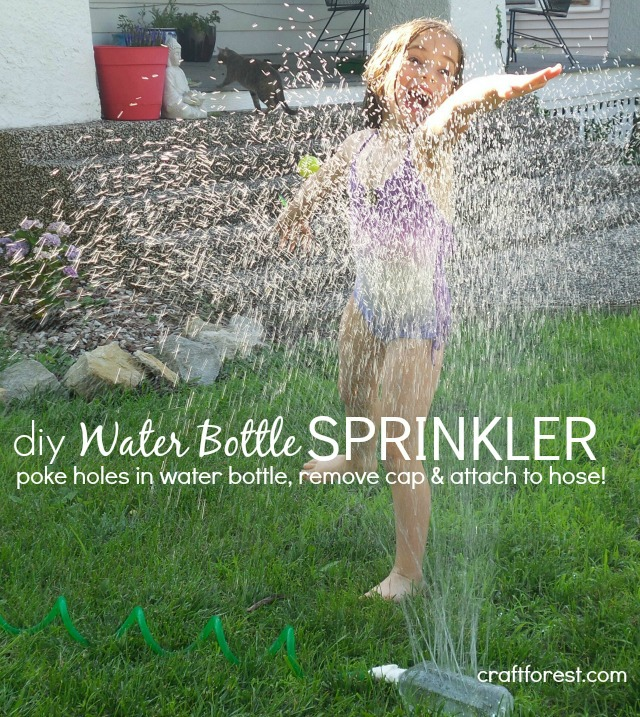 7 Water Play Activities For Toddlers - Mommy Scene - DIY Water Bottle Sprinkler