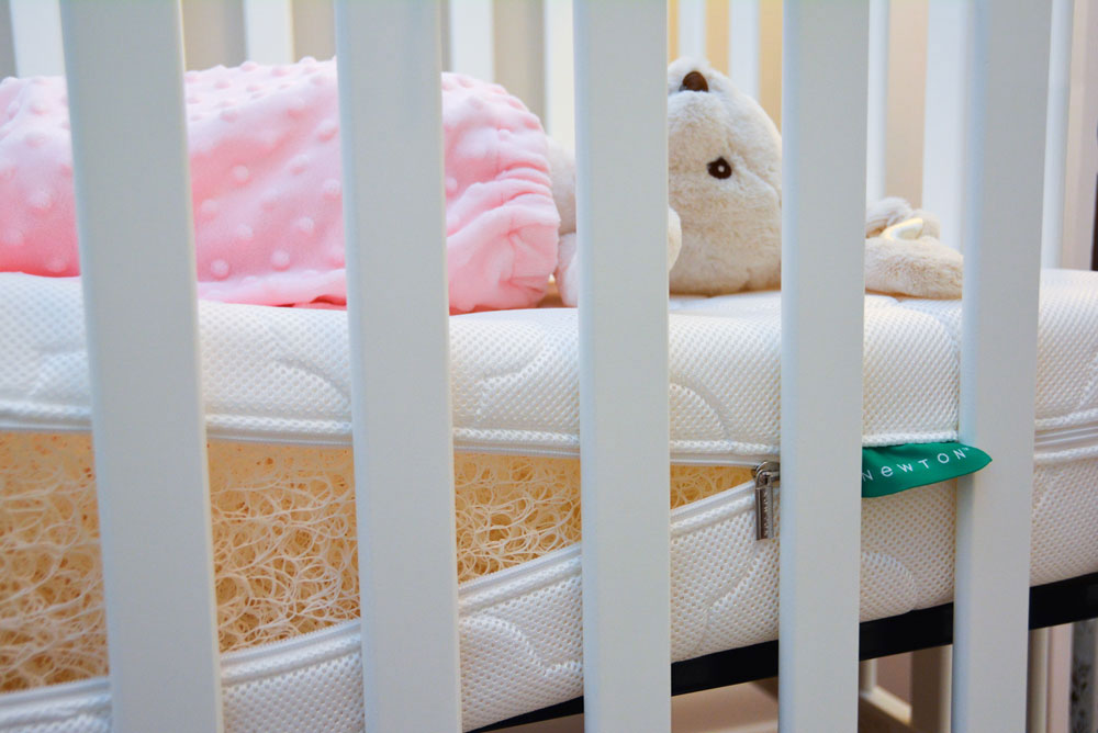Baby Girl Nursery Tour - Mommy-Scene - Newton Wovenaire Breathable Crib Mattress - The safest crib mattress is also washable!