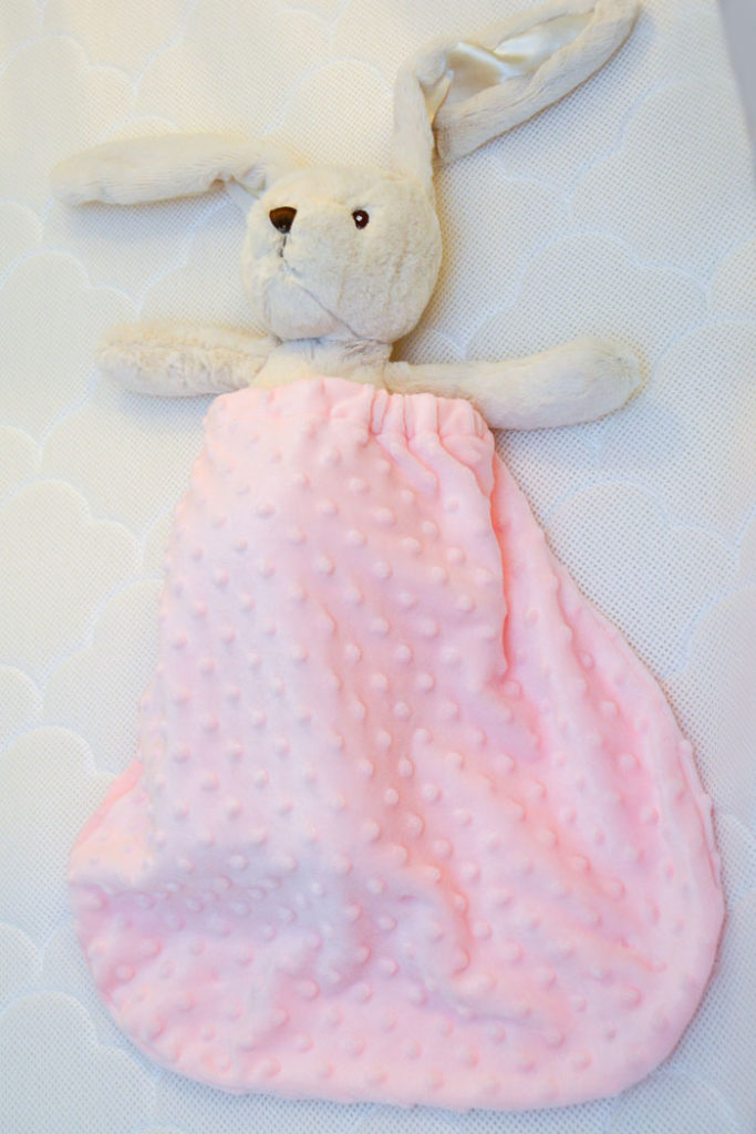 Baby Girl Nursery Tour - Mommy Scene - Cozy Pink Blanket Pouch from Revelae Kids